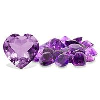 4 1/2 Carat Heart Shape Amethyst Gemstone