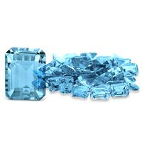 2.85 Carat Emerald Cut Blue Topaz Gemstone