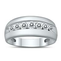 1 Carat TW Diamond Men's Ring in 10K White Gold