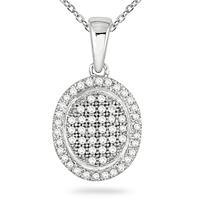 1/4 Carat TW Diamond Pendant in 14K White Gold