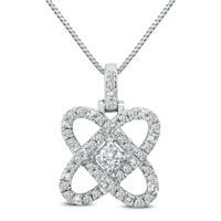 1/4 Carat TW Diamond Infinity Love Pendant in .925 Sterling Silver