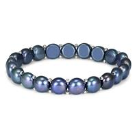 8mm Cultured Freshwater Black Pearl Bracelet
