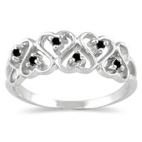 .12CTW Diamond Rope Twist Ring in Sterling Silver