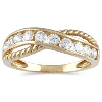 1/2 Carat TW 10 Stone Diamond Ring in 14K Yellow Gold