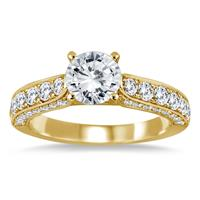 AGS Certified 1 7/8 Carat TW Diamond Ring in 14K Yellow Gold (H-I Color, I1-I2 Clarity)