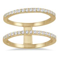 3/8 Carat TW Diamond Double Row Ring in 10K Yellow Gold