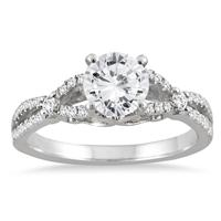 AGS Certified 1 1/4 Carat TW Diamond Engagement Ring in 14K White Gold (H-I Color, I1-I2 Clarity)