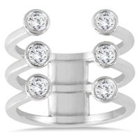5/8 Carat TW Open Diamond Fashion Ring in 14K White Gold