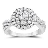 1 1/4 Carat TW Diamond Engagement Ring in 10K White Gold