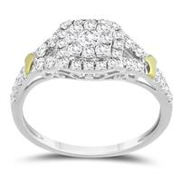 5/8 Carat TW Diamond Engagement Ring in 10K Two Tone Gold