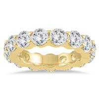 AGS Certified Diamond Eternity Band in 14K Yellow Gold (5.20 - 6 CTW)