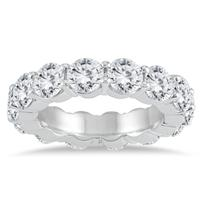 AGS Certified Diamond Eternity Band in 14K White Gold (6 1/2 - 7 1/2 CTW)