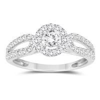 7/8 Carat TW Diamond Engagement Ring in 10K White Gold