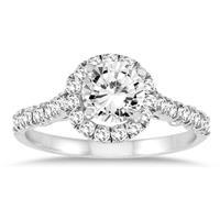 1 Carat TW Diamond Engagement Ring in 10K White Gold