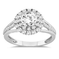 1 1/6 Carat TW Diamond Engagement Ring in 10K White Gold