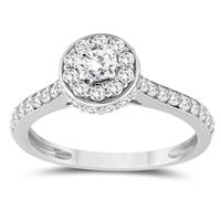 1 1/3 Carat TW Diamond Engagement Ring in 10K white Gold