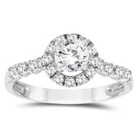 7/8 Carat TW Diamond Engagement Ring in 10K White Gold