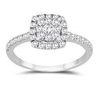 3/4 Carat TW Diamond Engagement Ring in 10K White Gold