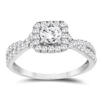 1 1/10 Carat TW Diamond Engagement Ring in 10K White Gold