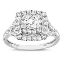 1 1/4 Carat TW Diamond Engagement Ring in 10K White Gold