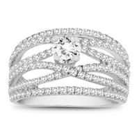 1 3/4 Carat TW Diamond Engagement Ring in 10K White Gold