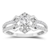1 Carat TW Diamond Engagement Ring in 10K White Gold