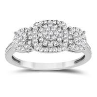 1/2 Carat Diamond Ring in 10K Whit Gold