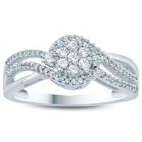1/3 Carat TW Diamond Engagement Ring in 10K White Gold