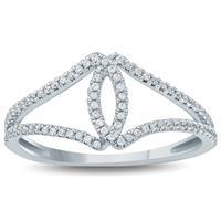 1/4 Carat TW Open Diamond Ring 10K White  Gold