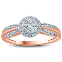 1/3 Carat TW Diamond Fashion Ring in 10K Rose Gold