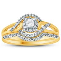 1/3 Carat TW Diamond Engagement Ring in 10K Yellow  Gold