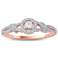 1/3 Carat TW Diamond Engagement Ring in 10K Rose Gold
