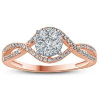 1/2 Carat TW Diamond Ring in 10K Rose Gold