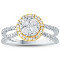 3/4 Carat TW Diamond Engagement Ring in 10K Two Tone Gold