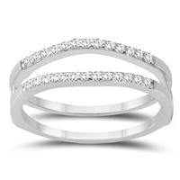1/4 Carat TW Diamond Insert Ring in 10K White Gold