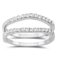 1/2 Carat TW Diamond Insert Ring in 14K White Gold