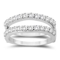 1 Carat TW Diamond Insert Ring in 14K White Gold