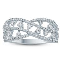 1/2  Carat TW Diamond Band in 10K White Gold