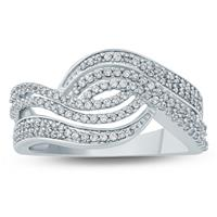 1/2  Carat TW Diamond Fashion Ring in 10K White Gold