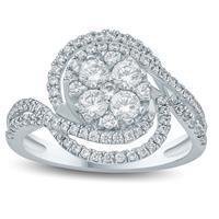1 Carat TW Diamond Isabella Ring in 10K White Gold