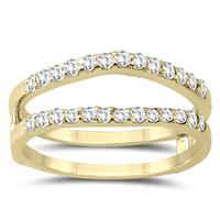 1/2 Carat TW Diamond Insert Ring in 14K Yellow Gold