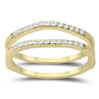1/4 Carat TW Diamond Insert Ring in 10K Yellow Gold