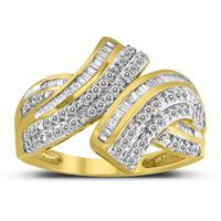 1 Carat TW Diamond Cocktail Ring in 10K Yellow Gold