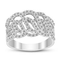1 Carat TW Diamond Cocktail Ring in .925 Sterling Silver Ring