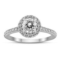 Deals on Signature Quality 1 Carat TW Diamond Halo Ring