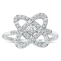 Deals on 1/4 Carat TW Infinity Heart Diamond Ring In 925 Sterling Silver