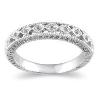 1/2 Carat TW Diamond Wedding Band in 14K White Gold