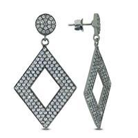 11 Carat TW White Topaz Earrings in .925 Sterling Silver