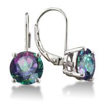 5 Carat Mystic Topaz Lever Back Drop Earrings in .925 Sterling Silver