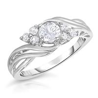 White Sapphire Brilliance Ring in .925 Sterling Silver